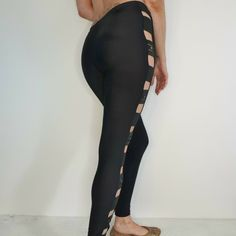 Ann Summers Size 10 12 Black Lycra Leggings Strappy eGirl Goth Sexy Tight Fit #AnnSummers #Leggings #CasualPartyCocktailTravel Lycra Leggings, Tights, Ann Summers, Women Brands, Stylists, Goth, Size 12, Sexy, Casual