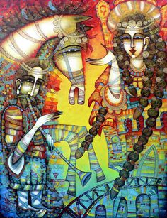 Serenade Painting by Albena Vatcheva - Serenade Fine Art Prints and Posters for Sale