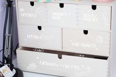 how to organise ikea moppe drawers makeup storage