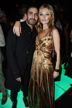 Marc and Kate at the Kate Moss Book party