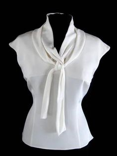 OSCAR DE LA RENTA^ Cream COWL NECK SLEEVELESS BLOUSE ~12~ $110.00