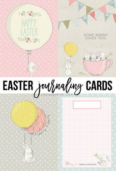 Darling Easter Journaling Cards! These free printables could also be used as gift tags, little Easter artwork, etc. livelaughrowe.com