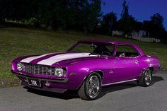 1969 Camaro Z/28  that's a sweet paint job! purple cars, purple trucks, purple