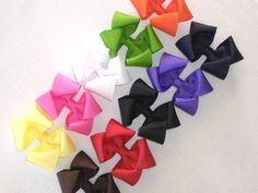 hair bows for the craft fair. I can make these in bulk in hundreds of colors.