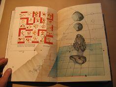 DENSITY, Timothy C. Ely, 2005 Artist Sketchbook, Handmade Books, Ely, Book Binding, Various Artists, Altered Books, Sketchbooks, Crow, Book Art