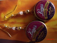 Bottle Cap Earrings Leinenkugel Beer with by bumbalilliesbling, $4.00