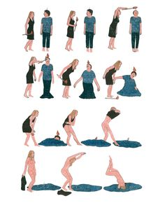 In Pieces: del Ilustrador francesa Marion Fayolle sin palabras Narrativas sobre las relaciones humanas | Cosechas cerebrales