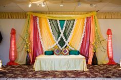perfect stage for mehndi night