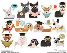 Cachorros Digital clip art parte 1 para por Giftseasonstore en Etsy