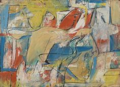 Pat Passlof, Untitled, circa 1950s, oil on paper mounted on board, 22 1/2 x 31 inches (courtesy of Elizabeth Harris Gallery)