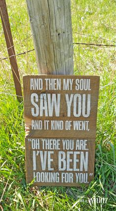 I've Been Looking for You Barnwood Sign | Denise on a Whim