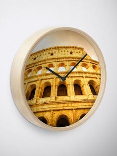"""""""Colosseum in Rome (Roma), Italy. The most famous Italian sightseeing."""" Clock by PaoloModena 