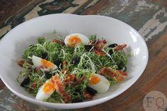 salade-met-gebakken-pancetta-2 Bento Box, Lunch Box, Lunch Snacks, Healthy Life, Low Carb, Keto, Eggs, Cooking, Breakfast