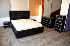 Mobila de Dormitor cu Rame din Aluminiu si Sticla Vopsita Neagra Mattress, Bed, Madrid, Furniture, Design, Home Decor, Decoration Home, Stream Bed, Room Decor