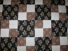 shades of brown lap quilt by Upnorthcrafter on Etsy, $135.00
