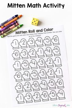 mitten math activity is a fun winter numbers game for preschool and kindergarten. Source by JeweledRose Ideas winterThis mitten math activity is a fun winter numbers game for preschool and kindergarten. Source by JeweledRose Ideas winter Preschool Games, Preschool Lessons, Kindergarten Activities, Math Games For Preschoolers, Winter Preschool Activities, Number Games Kindergarten, Montessori Preschool, Montessori Elementary, Elementary Schools