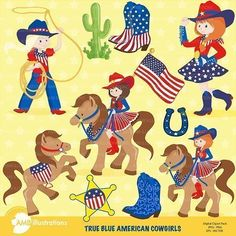 Cowgirls in All American Red, White and Blue, This clipart pack comes with 10 6 inch x 6 inch 300 cliparts. Horses, cactus, sheriff badge, horse shoe and Four lovely cowgirls and a couple [...]