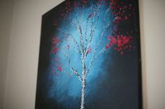 The Red Birch Tree | Acrylic Abstract Painting