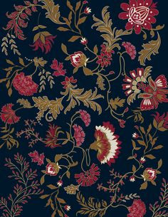 Tapestry Winter Pattern from Ana Paula Mori Textile Prints, Floral Prints, Textiles, Flower Wallpaper, Nature Wallpaper, Folk Print, Smoke Art, Floral Printables, Javanese