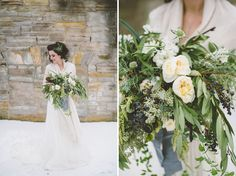 Floral design by #bemarriedevents Photography by #TheColagrossis #winter bride