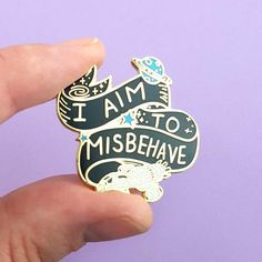 I Aim To Misbehave Lapel Pin - Jubly-Umph Originals Serenity Movie, Firefly Serenity, Fearless Quotes, Day List, Be Your Own Hero, Cute Pins, Pin And Patches, Lapel Pins, Pin Collection