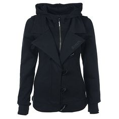 I am in love with this jacket. I wish it could be shipped to Denmark but it can't :( Bench Clothing, Bench Jackets, Diy Clothes, Clothes For Women, Head To Toe, Beautiful Outfits, Black Tops, Hoods, Zip Ups