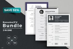 Resume/CV Bundle by ThemeDevisers on Job Resume, Resume Tips, Resume Examples, Best Resume Template, Cv Template, Business Brochure, Business Card Logo, Creative Resume, Creative Design