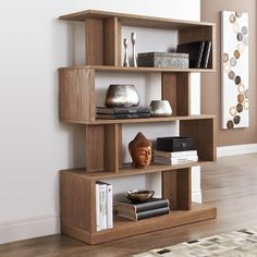 Dramatic and abstract, this modern bookcase is as functional as it is beautiful.