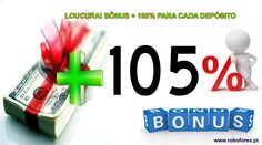 LOUCURA! BÔNUS + 105% PARA CADA DEPÓSITO. Você não pode ficar fora dessa promoção inédita. Até 7 DE DEZEMBRO você deposita acima de US$300 na sua conta RoboForex através de QUALQUER| sistema de pagamento e simplesmente GANHA 105% sobre CADA depósito. PEGUE SEU BÔNUS http://www.roboforex.pt/operations/bonuses-promotions/105-deposit-bonus/