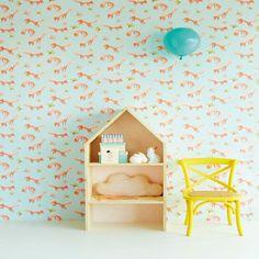 The Tout Petit range of wallpaper for children's room is tout-tout sweet Kids Room Wallpaper, Home Wallpaper, Wallpaper Collection, Deco Kids, Kids Corner, Kid Spaces, Kids Decor, Pattern Wallpaper, Kids Furniture