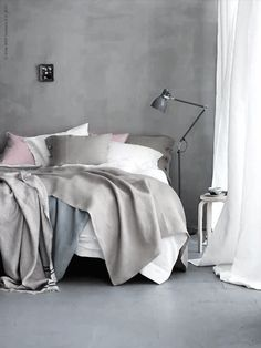 IKEA offers everything from living room furniture to mattresses and bedroom furniture so that you can design your life at home. Check out our furniture and home furnishings! Gray Bedroom, Home Bedroom, Bedroom Decor, Bedroom Apartment, Pastel Bedroom, Trendy Bedroom, Serene Bedroom, Ikea Bedroom, Bedroom Inspo