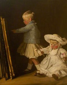 Portrait of Francis and Christopher Bacon (Sons of Thomas W. Bacon, of Ramsden Hall, Essex), 1907 by William Nicholson (English Your Paintings, Beautiful Paintings, Joseph John Thomson, Leeds Art Gallery, William Nicholson, Vintage Children, Art Children, Art Uk, Sculpture