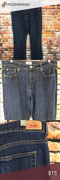 "Levi's Women Size 10 X 32 1/2"" Inseam Jeans Barley Worn. Levi's Women Size 10 X 32 1/2"" Inseam Jeans. Medium Wash.  Zipper with metal closure.  5 Pockets. Stretch. Made of 99% Cotton and 1% Spandex. Waist measuring all the way around approx 32 1/2"". Waist lying flat approx 16 1/4"" for a total of 32 /1/"". Front rise approx 10"". Hip lying flat approx 21 1/2"" for a total of 43"". Leg opening all the way around approx 18"". Levi's Jeans Boyfriend"