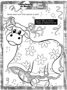 BAUZINHO DA WEB - BAÚ DA WEB Desenhos para colorir pintar e Atividades Escolares: 100 Atividades de Folclore para educação infantil e ensino fundamental!