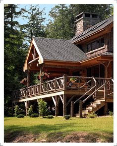 Main House Entrance Cabins Camps Cottages Pinterest - Camp dancing bear log home