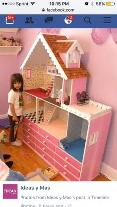 Barbie Dolls, Barbie Doll House, Girl Dolls, Barbie House Furniture, Doll Furniture, Cheap Furniture, Kids Furniture, Dollhouse Design, Dollhouse Ideas