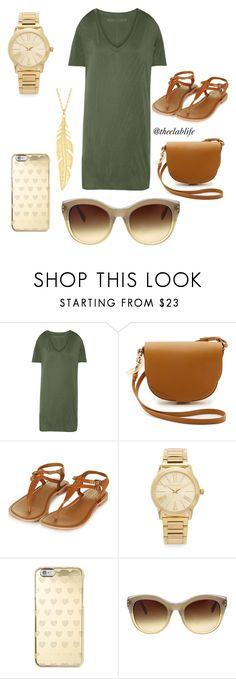 Untitled #6 by theelablife on Polyvore featuring Enza Costa, Topshop, Sophie Hulme, Michael Kors and Oscar de la Renta