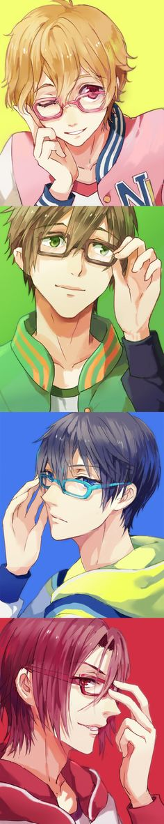 "Free! ~~~ Megane edition :: I just adore a boy with glasses! Don't you? {{ btw, I also like ""Meganebu!"" which isn't as serious as ""Free!"" but is a lot of fun on its own }}"