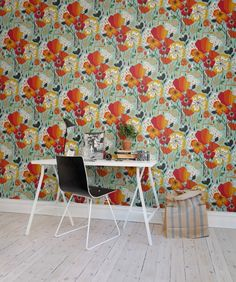 Hey,+look+at+this+wallpaper+from+Rebel+Walls,+Sweet+Poppies!+#rebelwalls+#wallpaper+#wallmurals