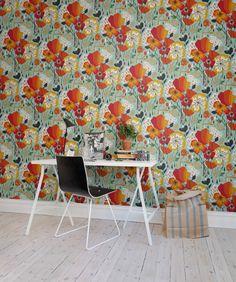 Hey, look at this wallpaper from Rebel Walls, Sweet Poppies! #rebelwalls #wallpaper #wallmurals