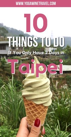 Yogawinetravel.com: Taiwan Travel Guide 10 Things to Do If You Only Have 48 Hours in Taipei. Taipei is an incredibly vibrant city with tons to see and do (and eat). If you are visiting this part of the world then Taipei should not to be skipped - read on for a list of the top things to do and see if you only have 48 hours in Taiwan's capital city!