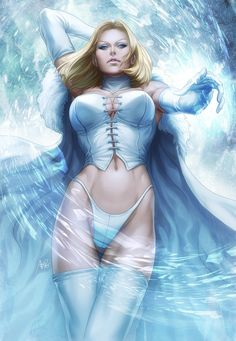 Emma Frost: The White Queen // artwork by Stanley Lau (2012)