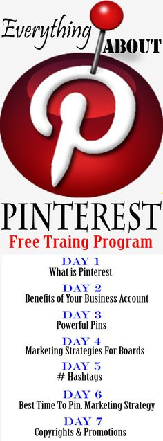 FREE Training Program About Pinterest. How to run your business on Pinterest. SIGN NOW #promotion #pinterest