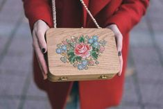Here are the beautiful embroidered wooden bags byGrav Grav, a design and…