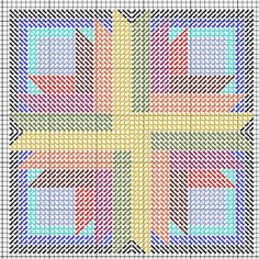 Sunburst Mosaic Ornament -- Free Needlepoint Pattern - Nuts about Needlepoint