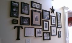 Photo Wall - Black and white photos and black frames.