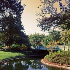 Liberty Square Bridge in Magic Kingdom park. Walt Disney World