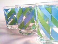On Hold For Diane. Mid Century Chevron by VintageQuinnGifts