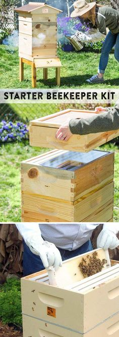 Made in the USA hives for urban beekeepers. Easy to set up, harvest honey, and do your part to help save the bees.