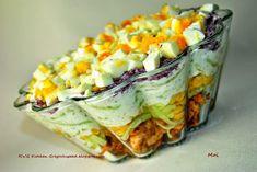 Super przepis na sałatkę drobiową z tzatziki. Polish Recipes, Meat Recipes, Salad Recipes, Cooking Recipes, Healthy Recipes, Tzatziki, Appetizer Salads, Creative Food, Food Design